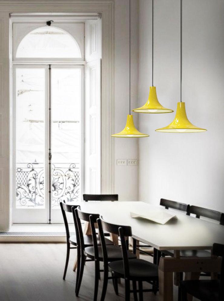 Co&Ca Lighting EsszimmerBeleuchtungen Eisen/Stahl Gelb