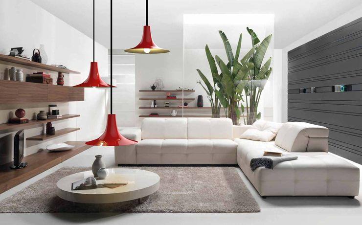 Co&Ca Lighting WohnzimmerBeleuchtung Eisen/Stahl Rot