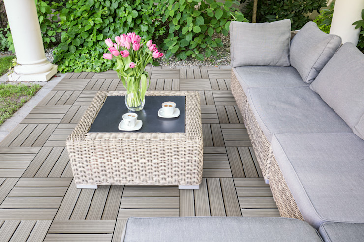 Quadrotta in legno e pvc HORTUS WOVEN - White Stitch Arredo-Giardino.com Giardino moderno