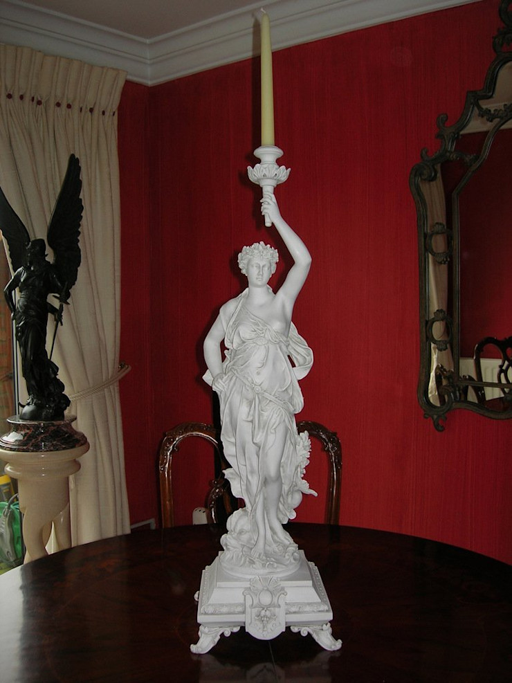 Candle Holder Figurine The Ancient Home ArtworkSculptures Marble White