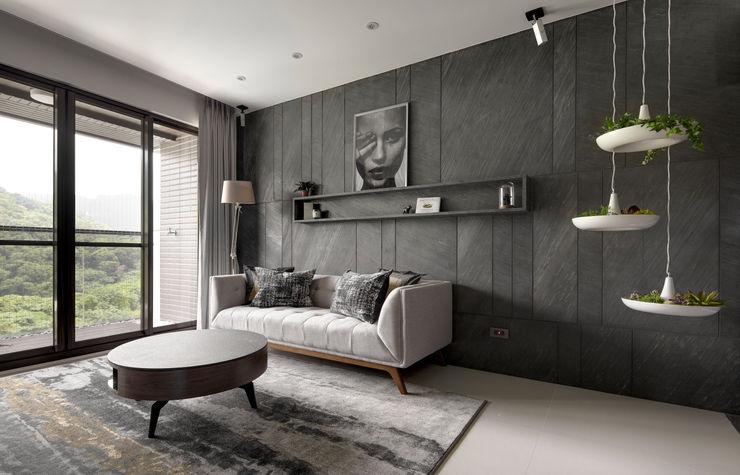 新北24坪機能住宅 鈊楹室內裝修設計股份有限公司 现代客厅設計點子、靈感 & 圖片