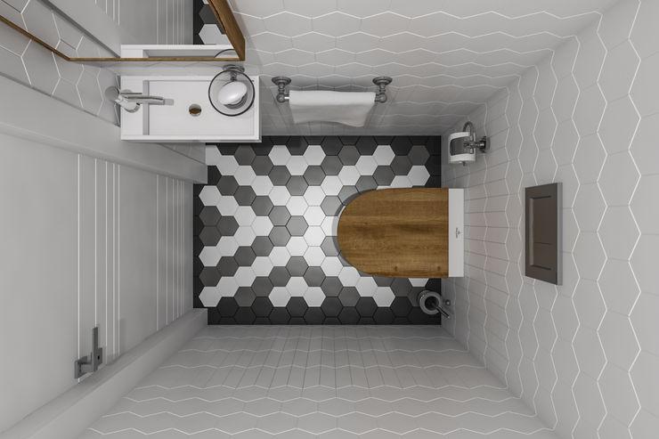Квартира 77 кв.м. в современном стиле в ЖК Жемчужина Зеленограда. Студия архитектуры и дизайна Дарьи Ельниковой Ванная комната в стиле минимализм