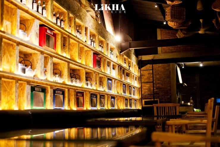 Pasar Cisangkuy (Indoor Area) Likha Interior Gastronomi Gaya Rustic Kayu Lapis Wood effect