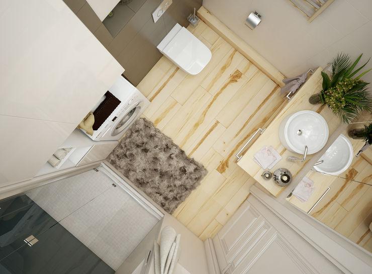 Дизайн проект двухкомнатной квартиры в скандинавском стиле Искусство Интерьера Ванная комната в скандинавском стиле Дерево Бежевый