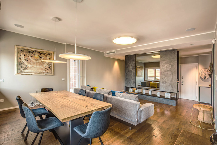 ISIDORO MOB ARCHITECTS Sala da pranzo moderna