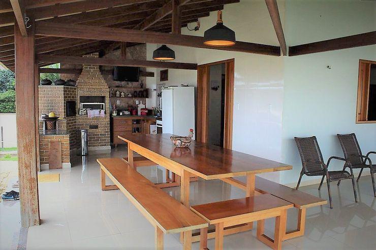 Ativo Arquitetura e Consultoria Casas rurales Madera maciza Beige