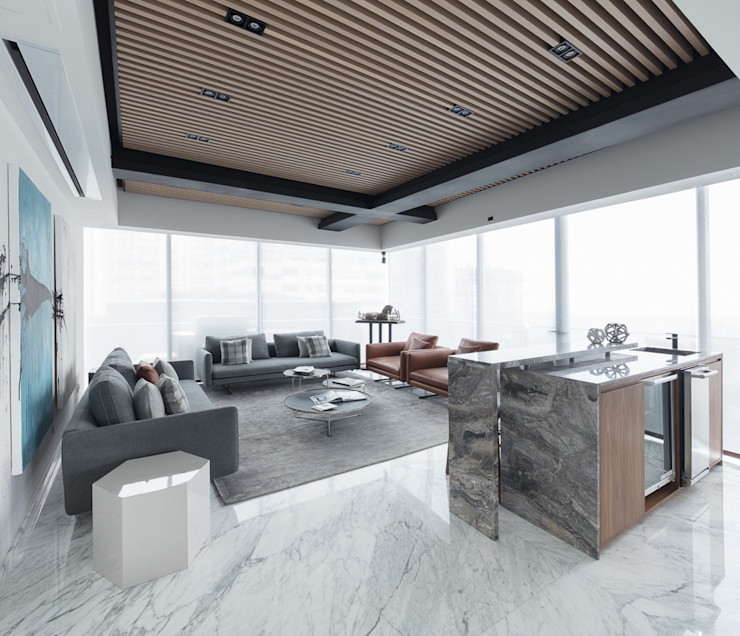 Departamento SS Concepto Taller de Arquitectura Salones modernos
