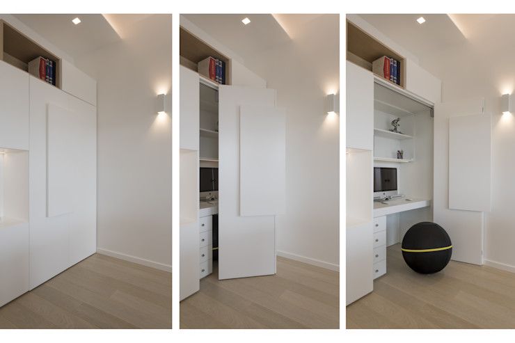 Casa <q>FG</q> bianco scolpito MAMESTUDIO Studio moderno