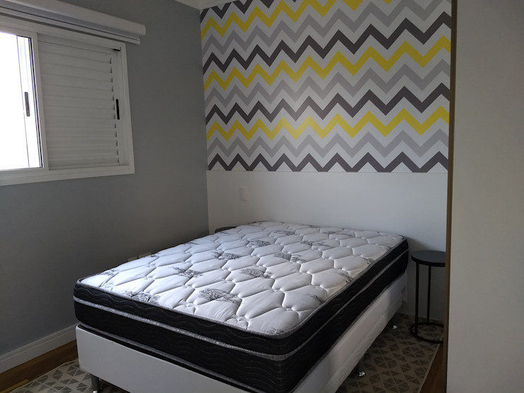 Karen Oliveira - Designer de Interiores СпальняЛіжка та спинки MDF Білий