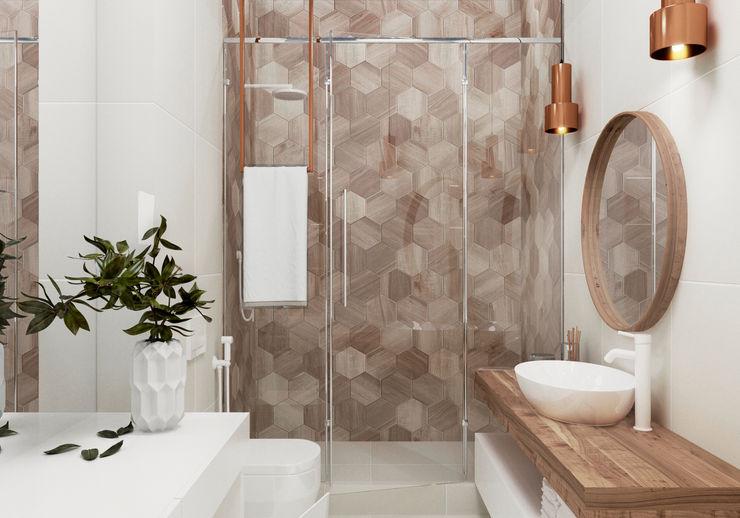 """Квартира в ЖК бизнес-класса """"Лица"""" Yurov Interiors Ванная комната в стиле модерн"""