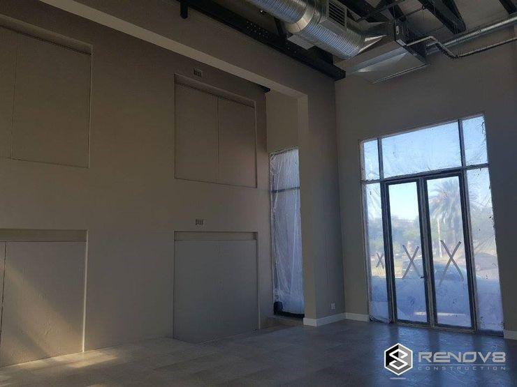 Nearing Completion Interior Showroom Renov8 CONSTRUCTION