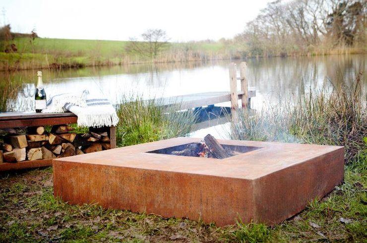 Vuurschalen PRODUCTLAB TuinVuurplaatsen & barbecues IJzer / Staal Bruin