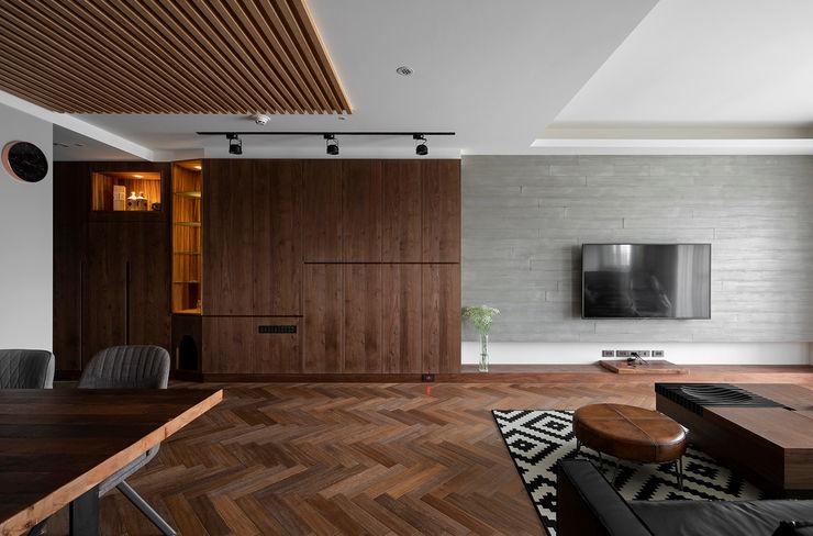 人字拼木地板 邑田空間設計 Classic style living room