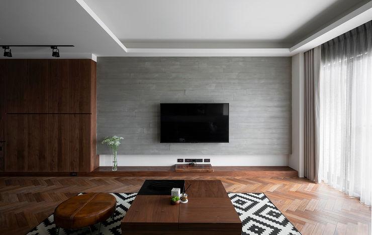 客廳電視牆 邑田空間設計 Classic style living room Concrete