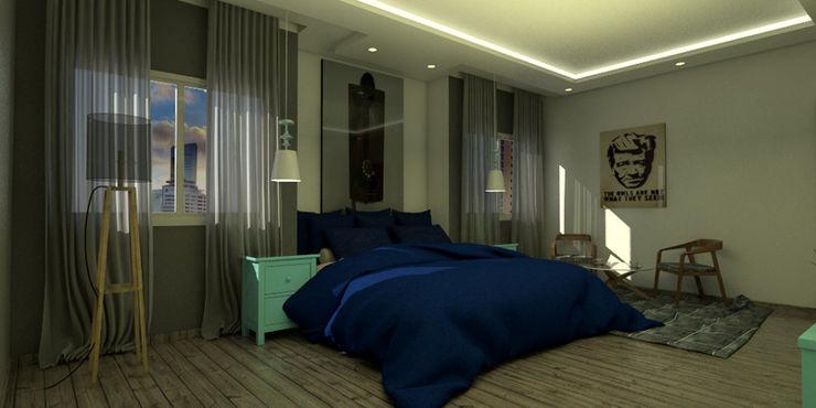 Arq Darwin Machiste Modern Bedroom White