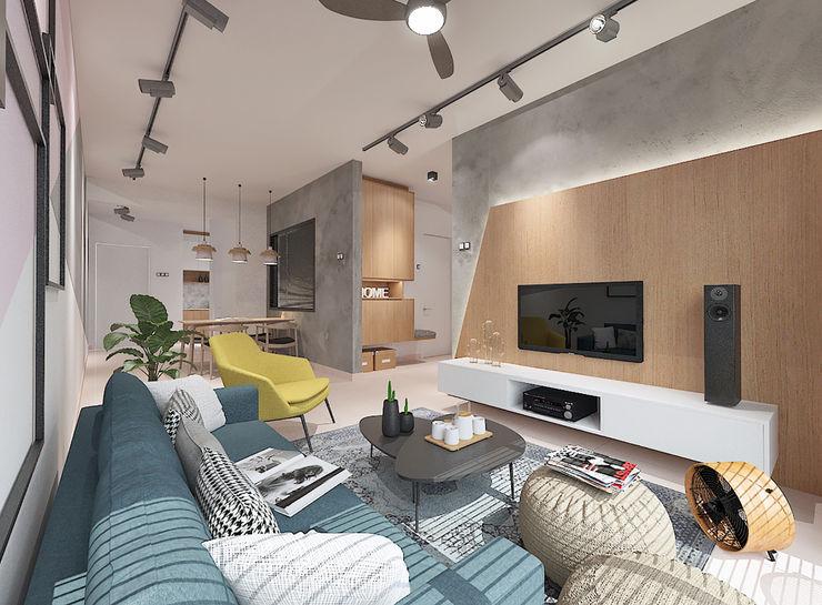 Living Area Verde Design Lab Living room
