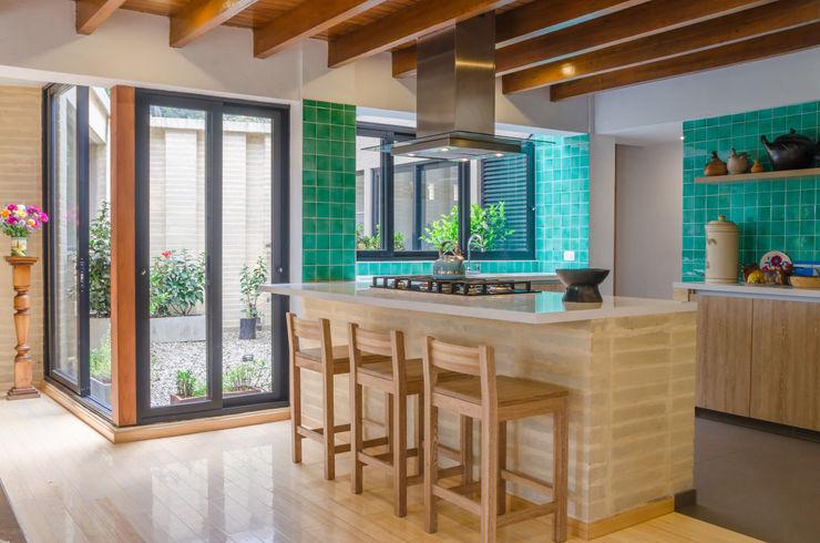 ARCE S.A.S Einbauküche Fliesen Grün