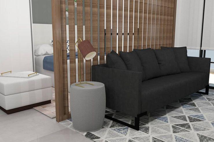 APARTAMENTO - CAMPO BELO EX ARQUITETURA E INTERIORES Salas de estar modernas