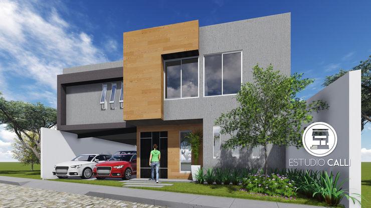 Vista Lateral homify Casas unifamiliares
