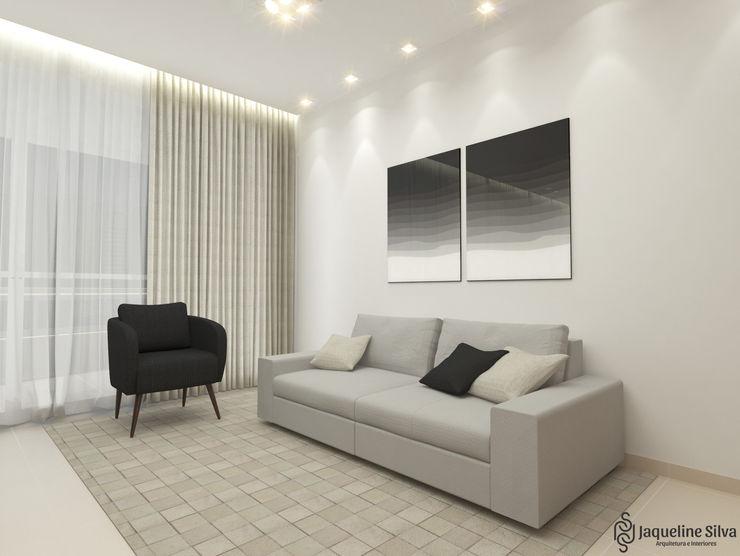 Apartamento FF JAQUELINE SILVA ARQUITETURA E INTERIORES Salas de estar modernas