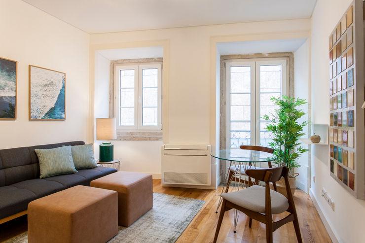 Traço Magenta - Design de Interiores Modern living room Blue