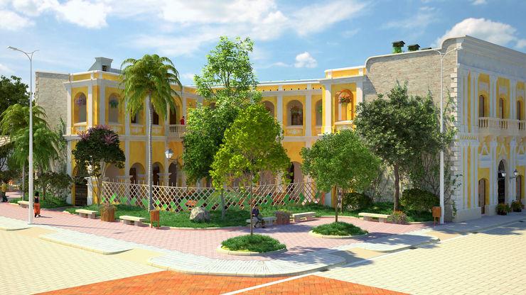 diseño paisajista y urbano del Edificio Ferrans A.BORNACELLI