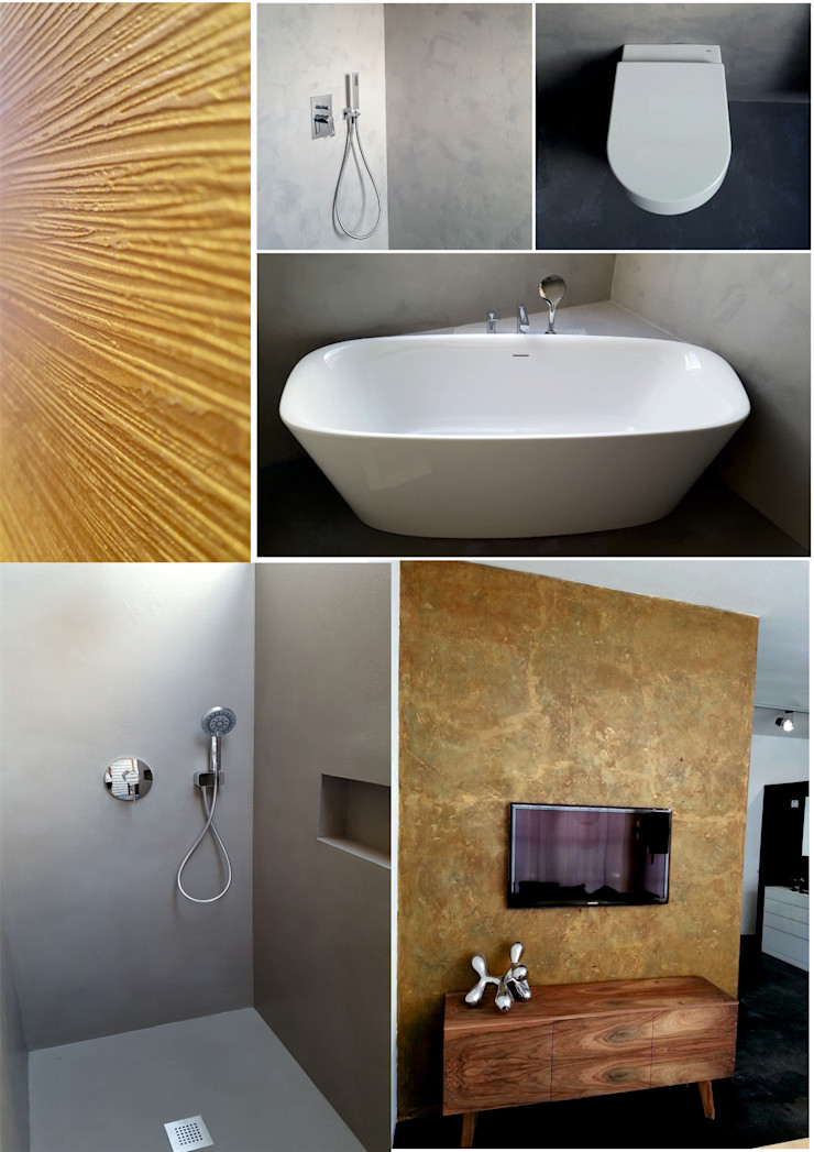 luanna design Modern walls & floors Concrete Grey