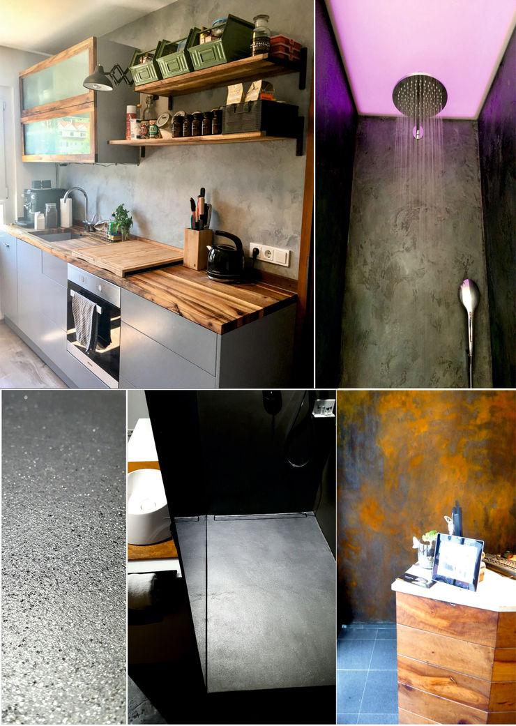 luanna design Eclectic style walls & floors Concrete Grey