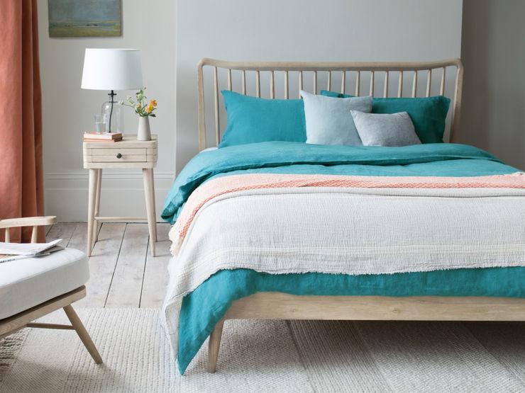 Lazy Linen in Kingfisher colour Loaf BedroomTextiles Vải lanh / vải lanh Blue