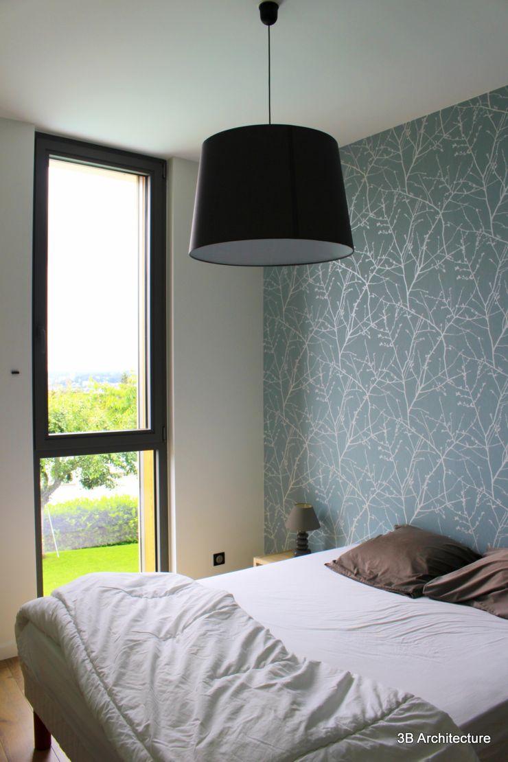 Chambre avec vue sur Nancy 3B Architecture Chambre minimaliste Vert