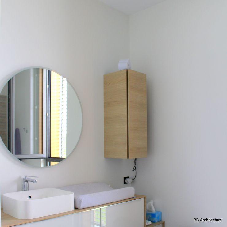 Salle d'eau parentale 3B Architecture Salle de bain minimaliste Blanc