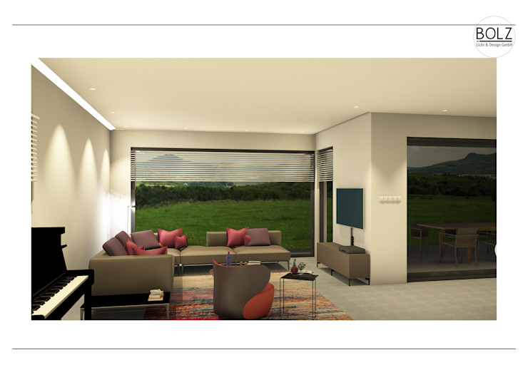 Offener Wohnbereich Bolz Licht und Wohnen · 1946 Moderne Wohnzimmer