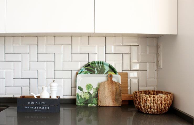 Detalhes da bancada da cozinha Rima Design Cozinhas escandinavas