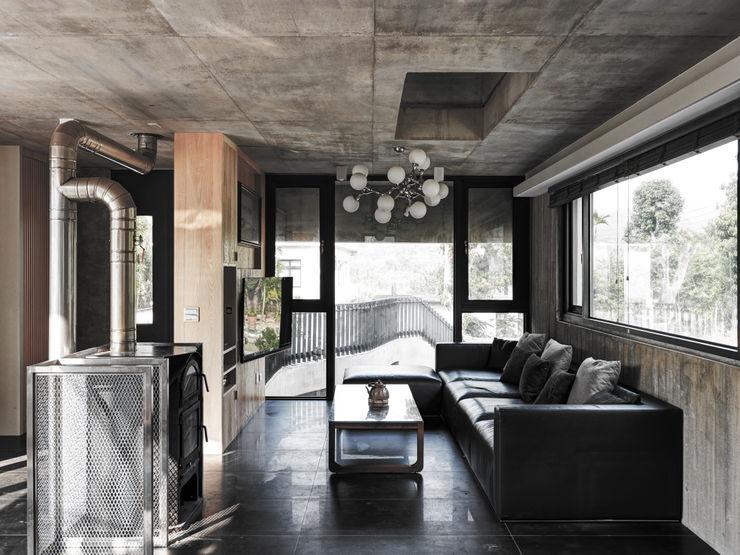 關西杜宅 形構設計 Morpho-Design 现代客厅設計點子、靈感 & 圖片