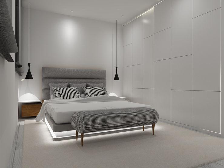 Apartamento Côte D'Azur Angelourenzzo - Interior Design Quartos escandinavos