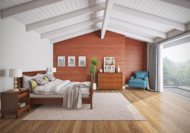 casadellastudio Dormitorios de estilo moderno Madera Acabado en madera