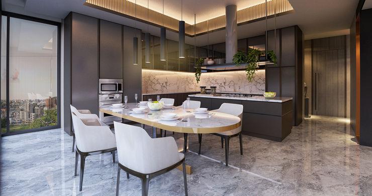 Interior Kartika House nakula arsitek studio Ruang Makan Modern
