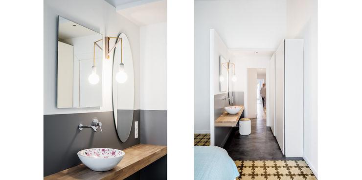 Baño Dormitorio Principal (Suit) Abrils Studio Dormitorios de estilo ecléctico Blanco