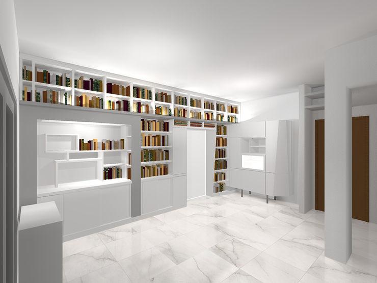 Vista complessiva Daniele Arcomano Soggiorno moderno Bianco