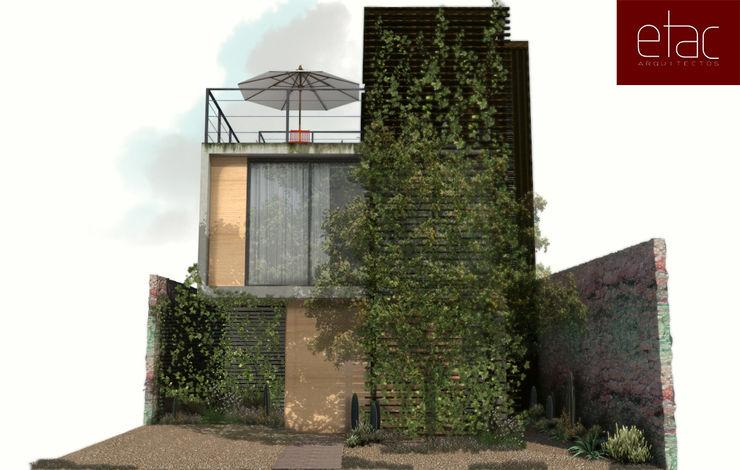 Fachada Principal ETAC arquitectos Casas modernas
