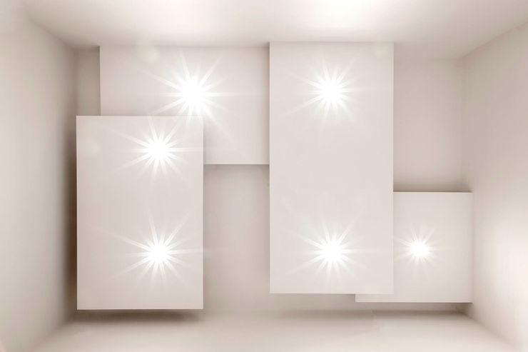 Soffitto Ingresso Luca Bucciantini Architettura d' interni Ingresso, Corridoio & Scale in stile minimalista Bianco