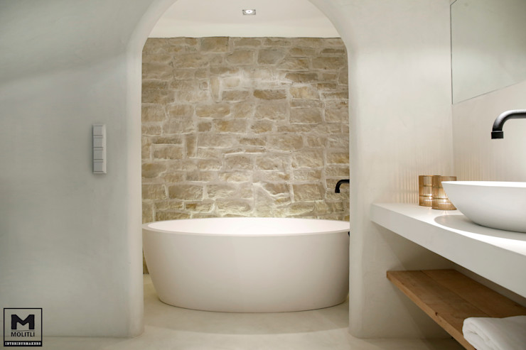 Bohemian Badkamer Molitli Interieurmakers Industriële badkamers