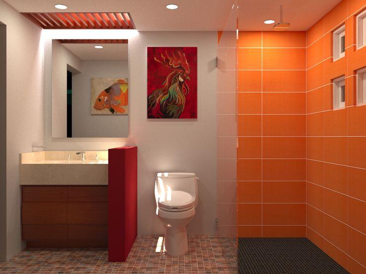 OLOR A NUEVO Modern bathroom Ceramic Orange