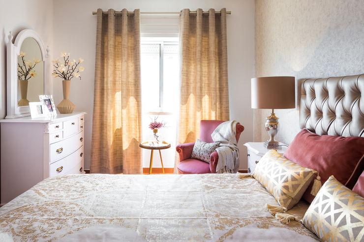 RENOVAÇÃO QUARTO CASAL CLÁSSICO Glim - Design de Interiores Quartos clássicos