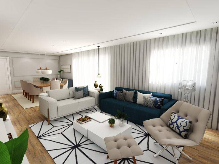 Studio M Arquitetura Вітальня