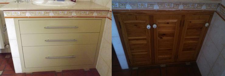 mueble baño antes/después Almudena Madrid Interiorismo, diseño y decoración de interiores Baños de estilo clásico