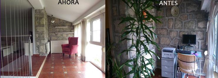 antes/después Almudena Madrid Interiorismo, diseño y decoración de interiores Salones de estilo clásico