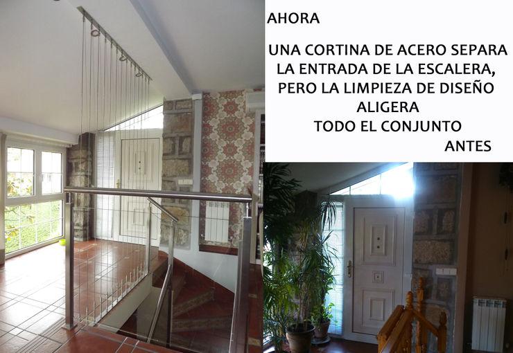 Entrada antes/después Almudena Madrid Interiorismo, diseño y decoración de interiores Salones de estilo clásico