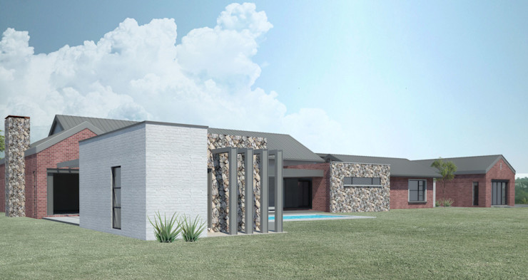 North Facing Entertainment A4AC Architects Detached home Bricks
