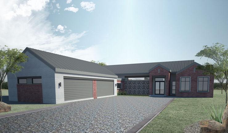 Entrance & Garage A4AC Architects Detached home